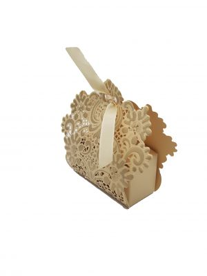 LC 001 Gold Laser Cut Favour Box