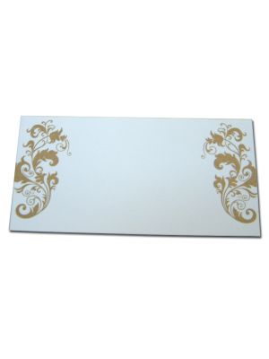 PL10 Gold filigree table place cards