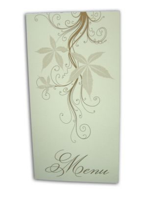 ABC 429 Elegant white and gold brown party table menus