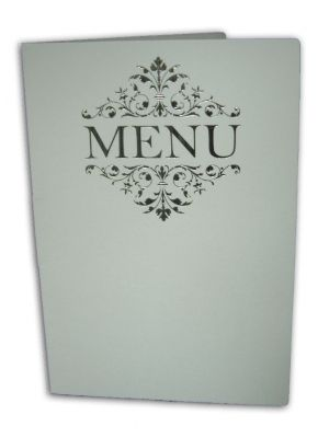 ABC 532 Personalised white and silver table party menu
