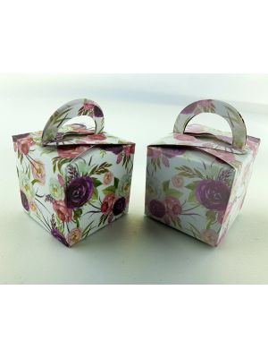 CHC 303 Bold Burgundy Rose Favour Boxes