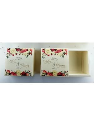 Personalised Cream Favour Box