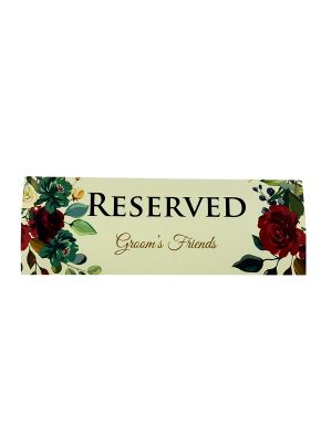 TABLE RESERVED PLACE CARD 105