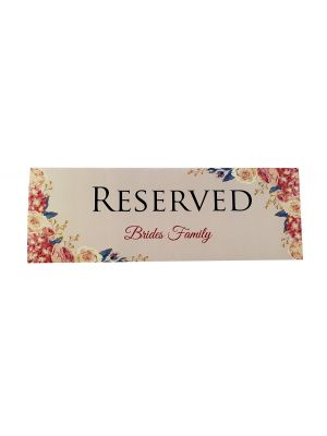 TABLE RESERVED PLACE CARD 106