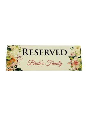 TABLE RESERVED PLACE CARD 110