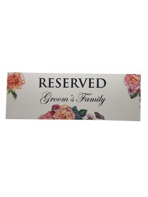 Table Reserved Place Card Groom's Family 201