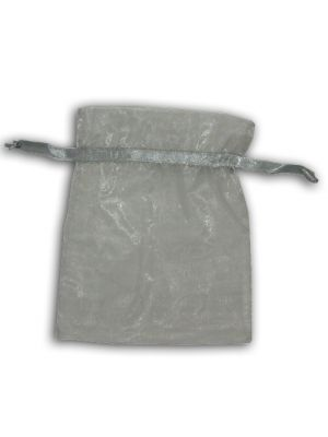 Silver Sheer sweet party favor Bag
