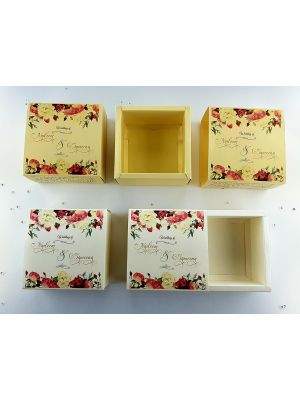 Golden Floral Favour Box