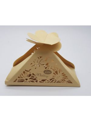 LC 009 Gold Laser Cut Favour Box