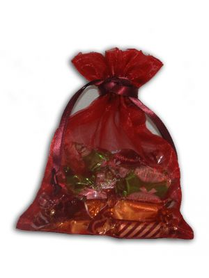 Maroon Sheer party favor Bag