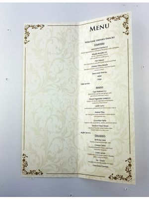 Beige Botanical Menu 101