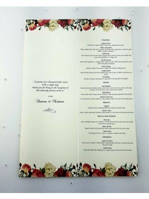 Peach Rose Menu 877