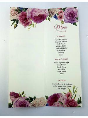 Blush Rose Wreath Menu 969