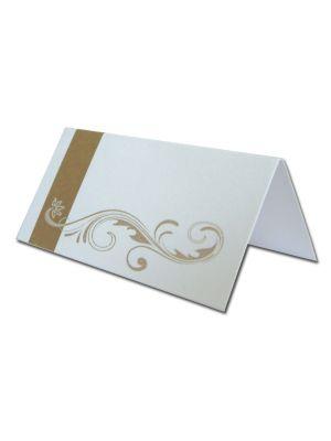 PL08 Gold flourish design table place card