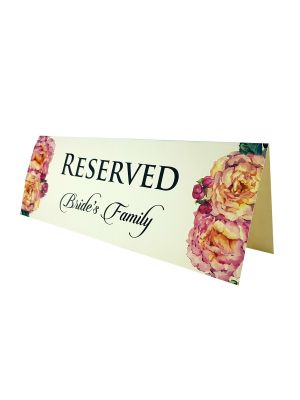 TABLE RESERVED PLACE CARD 103
