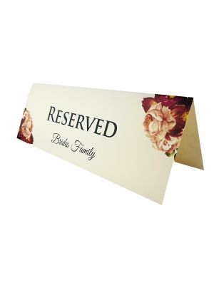TABLE RESERVED PLACE CARD 107