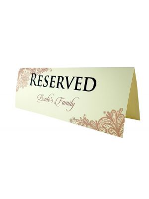 1 x pack of 10 Wedding Table Reserved Cards