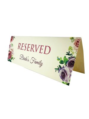 TABLE RESERVED PLACE CARD 112