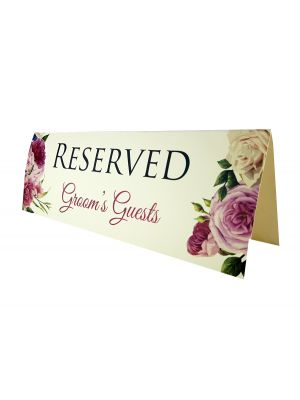 TABLE RESERVED PLACE CARD 114