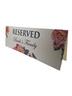 Table Decoration Reserved Card Bride's Family 201